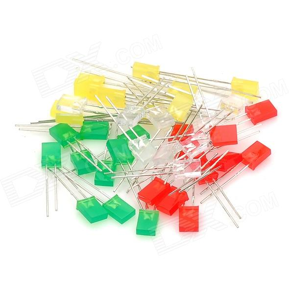 Green / Red / Yellow / White LED Light Emitting Diodes (40 PCS)