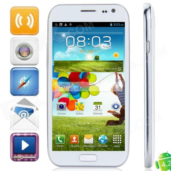 "M Pai i9500 MTK6589 Quad-Core Android 4.2.3 WCDMA Bar Phone w/ 5.0"" FHD / Wi-Fi / GPS - White"