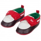 Tassel Velcro Baby Shoes - Red + Brown + White (6~12 Months / Pair)
