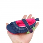 Denim Velcro Baby Shoes - Deep Blue (9~12 Months / Pair)