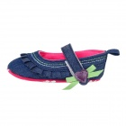 Denim Velcro Baby Shoes - Deep Blue (6~9 Months / Pair)
