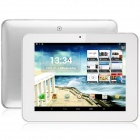 "AMPE A85 Android 4.1.1 Tablet PC w/ 8.0"" Capacitive Screen, TF, Wi-Fi and Camera - Silver + White"