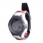 SB-017 Smart Electronic Heart Rate Calories Counter Sports Watch - Silver + Grey + Red (1 x CR2032)