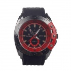 Super Speed P0168 Fashionable Men's Quartz Watch - Red + Black + White + Beige (1 x LR626)