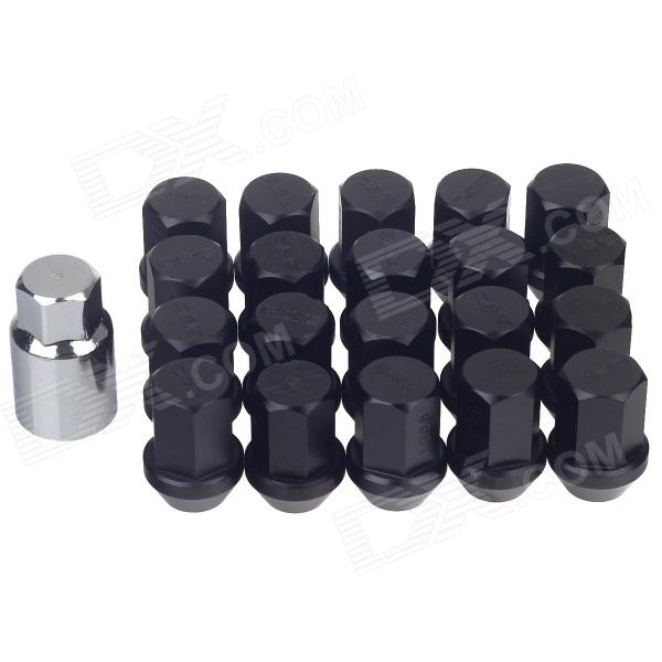 Aluminum Alloy DIY Tire Refit Screws Set - Black (20 PCS) e cap aluminum 16v 22 2200uf electrolytic capacitors pack for diy project white 9 x 10 pcs
