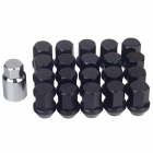 Aluminum Alloy DIY Tire Refit Screws Set - Black (20 PCS)