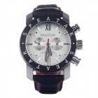 SPEATAK SP9003G Fashional Men's Quartz Wrist Watch w/ Five Stitch Stopwatch - Black + Red (1 x LR44)