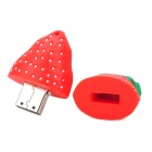 Cute Strawberry Style USB 2.0 Flash Drive - Red + Green (8GB)