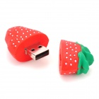Strawberry Shaped USB 2.0 Flash Drive - Red + Green (4GB)