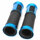 Universal Replacement Motorcycle ABS Handlebar Covers - Black + Blue