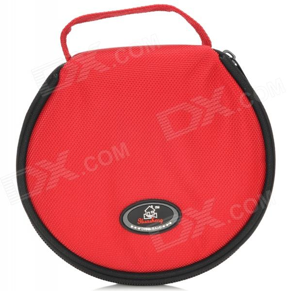Car 8-Layer 20-CD Storage Hanging Bag w/ Zipper - Red