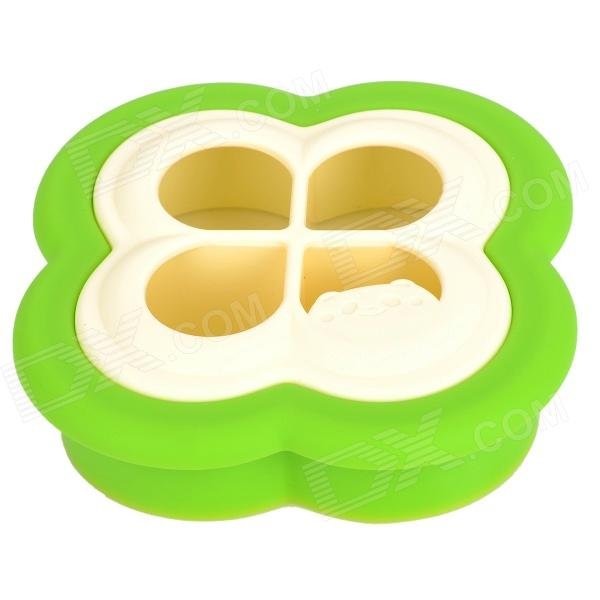 DIY Four Leaf Clover Shaped Sandwich Toast  Bread Mould - Green + Beige