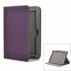 Protective Rotatable Detachable PU Leather Case for Samsung N8000 - Purple