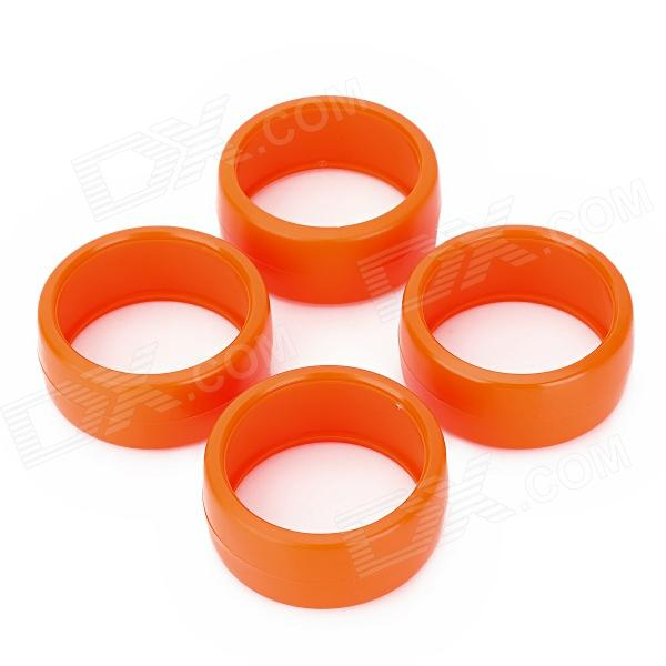 60mm Duroplasts Wheels for 1/10 RC Drift Car - Orange (4 PCS)