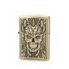 KANTAI  Chain Skull Pattern Copper Zinc Alloy Kerosene Oil Lighter - Bronze
