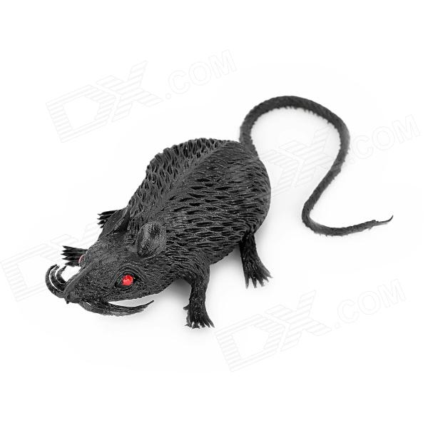 003 Cute Silicone Mice Toy for Kids - Black