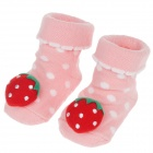 Cute Anti-slip Cotton Socks for 0~7 Months Baby - Red + Pink + Green (Pair)