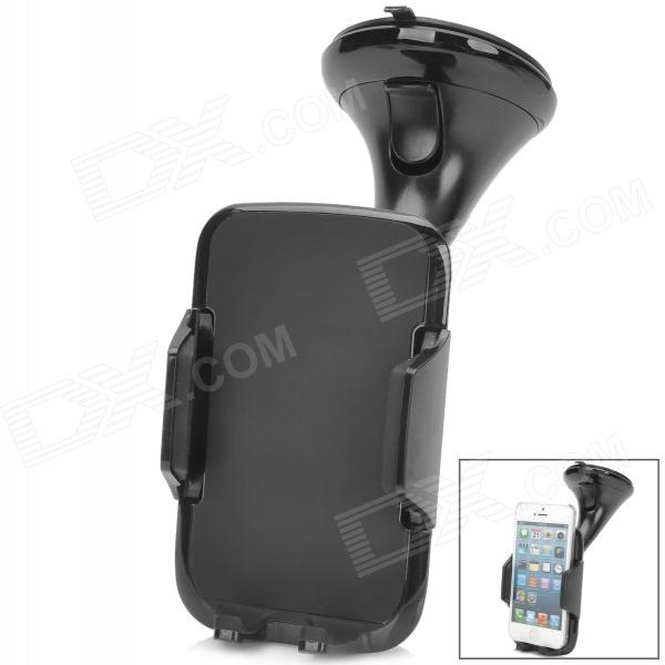 360 Degree Rotational Car Multi-Functional Cell Phone Mount Holder w/ Suction Cup - Black
