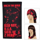 02013520003 Multifunction Outdoor Sports Bicycle Cycling Seamless Head Scarf - Red + Black