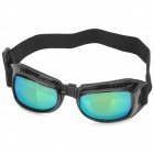 Protective Motorcycle Windproof Goggles w/ Elastic Band - Black