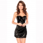 Sexy Breathtaking Bandeau Bouffancy Dress for Women - Black (Size L)
