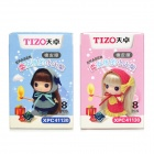 Tizo XPC41130 Cartoon Match Shaped Erasers  (2 x 8 PCS)