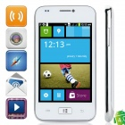 "i8750 Android 4.0.4 GSM Bar Phone w/ 4.0"" Capacitive Screen, Quad-Band and Wi-Fi - White"