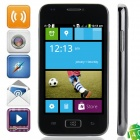 "i8750 Android 4.0.4 GSM Bar Phone w/ 4.0"" Capacitive Screen, Quad-Band and Wi-Fi - Black + Grey"