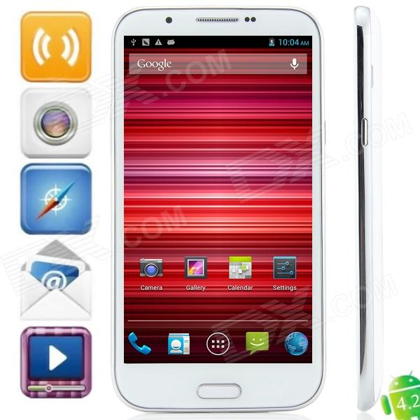 N9599 MTK6589 Quad-Core Android 4.2.1 WCDMA Bar Phone w/ 5.7 , Wi-Fi, FM and GPS - White n9599 mtk6589 quad core android 4 2 1 wcdma bar phone w 5 7 wi fi fm and gps white