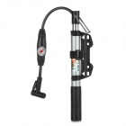 BMB H567 Bicycle Tire Air Pump w/ Pressure Gauge for Presta / Schrader Valve - Black + Silver