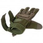 Outdoor Sports Cycling / Mountaineering Full-Finger Windproof Gloves - Army Green (Pair / Size-M)
