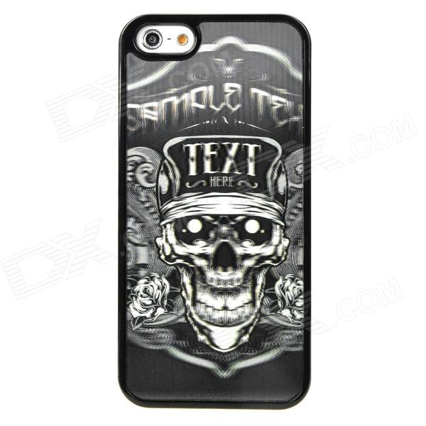 3D Pirate Skull Style Protective PVC Back Case for Iphone 5 - Black + White protective soft pvc back case for htc sensation xl x315e g21 black