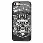 3D Pirate Skull Style Protective PVC Back Case for Iphone 5 - Black + White