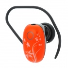 UTEL H52 Mini Bluetooth V3.0 Stereo Earbud Earphone w/ Handsfree / Audio - Orange + Black