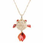 Goldfish Style Zinc Alloy Rhinestone Cat's Eye Necklace for Women