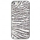 Leopard Style Protective Plastic Back Case for Iphone 5 - Black + White
