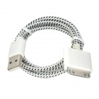 NL-30 USB to iPhone 30-Pin Data / Charging Cable for iPhone 4 / 4S / iPad 3 - White