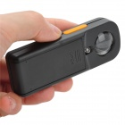 MG 21010 Portable 20X Magnifier w/ White Light LED for Jeweler Appraisal - Black + Orange (2 x AAA)