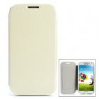 Protective PU Leather Flip Open Case w/ Card Slot for Samsung Galaxy S4 / i9500 - White