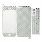 Checked Style Full Body Stickers Set for Iphone 5 - Silver