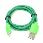 NL-8 USB to 8-Pin Lightning Data / Charging Cable for iPhone 5 / iPad 4 - Green
