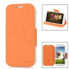 iMAX Protective PU Leather Flip-Open Case w/ Screen Protector for Samsung i9500 - Orange