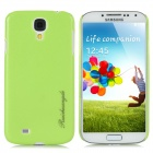 Snake Skin Pattern Protective Plastic Back Case for Samsung i9500 - Fluorescent Green