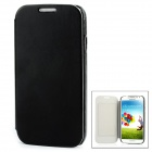 Protective PU Leather Flip Open Case w/ Card Slot for Samsung Galaxy S4 / i9500 - Black
