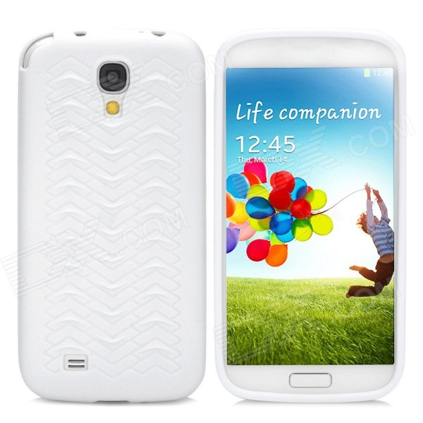 Stylish Scale Pattern Flexible Protective TPU Back Case for Samsung Galaxy S4 i9500 - White protective cute spots pattern back case for samsung galaxy s4 i9500 multicolored