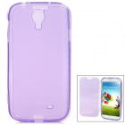 Stylish Protective Frosted Full Body TPU Case w/ Cover for Samsung Galaxy S4 i9500 - Purple