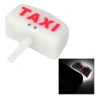 Taxi Cab Car Light Touch Flashing Anti-Dust Earphone Plug for Cell Phone - White (3.5MM Plug)