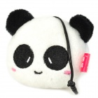 Cute Panda Style Cell Phone Screen Cleaner w/ 3.5mm Anti-Dust Plug for Iphone / Ipad - Black + White