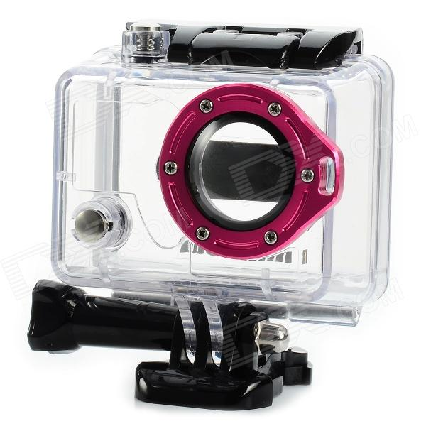 Miniisw C-2A2 45m Waterproof Case w/ Aluminum Alloy Strap Ring / Glass Lens for Gopro Hero2