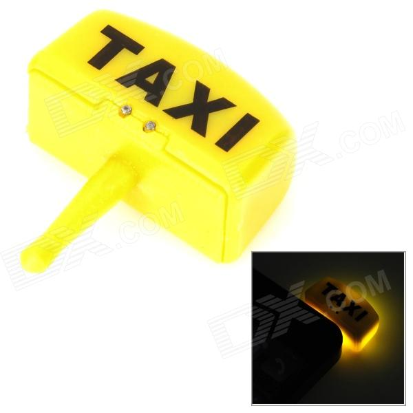 Taxi Cab Car Light Touch Flashing Anti-Dust Earphone Plug for Cell Phone - Yellow (3.5MM Plug)